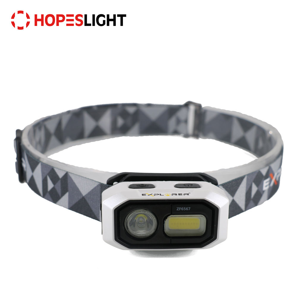 Black USB COB LED Rechargeable Battery Best Headlamp in the World for Trekking