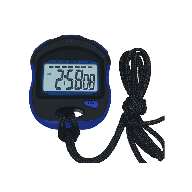 Wholesale single row waterproof handheld timer sport stopwatch with backlight