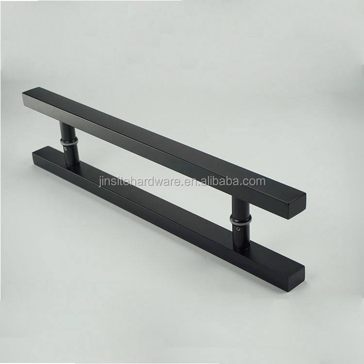 black color commercial glass door pull handles