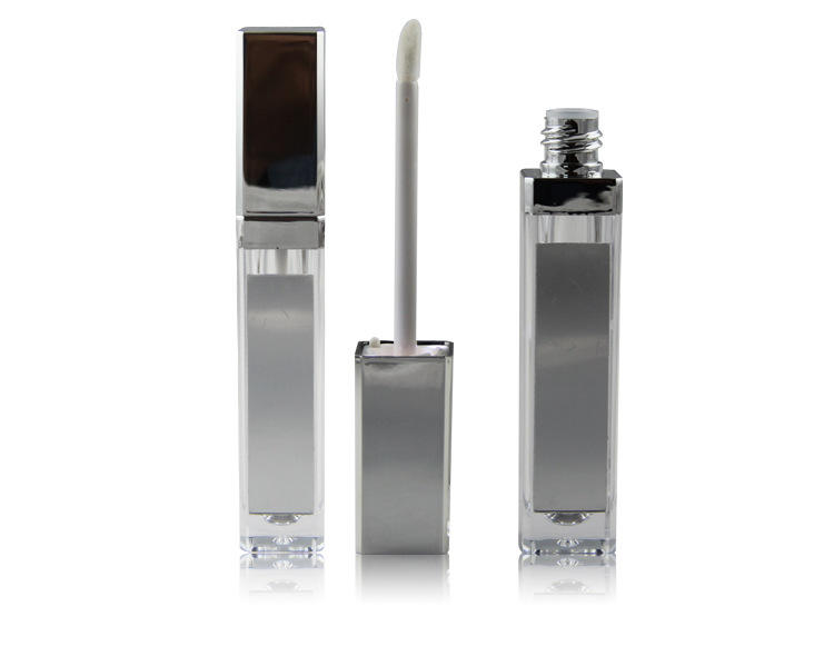 Silver or Black 8g Empty Containers with Led Light and Mirror, 8ml Empty Plastic Tube for Lip Gloss Wholesale