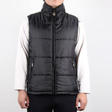 2019 fashion design lining quilted warm 100% polyester waterproof outdoor men vest for winter