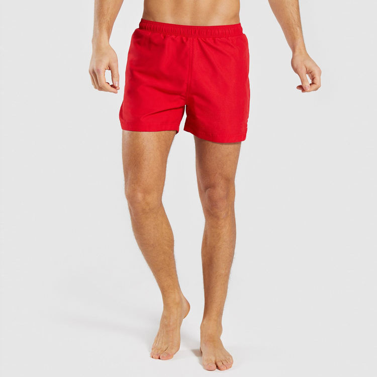 Hot Selling Summer Men Red Gym Shorts 95% polyester 5% spandex board shorts