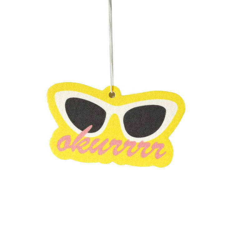 Customized Fashion Design Funny Aroma Hanging Air Freshner/Custom Paper Car Air Freshener