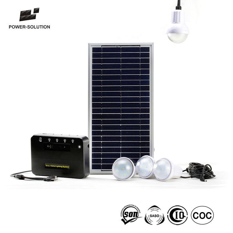 내구성 1 년 Warranty 8 와트 Solar <span class=keywords><strong>전구</strong></span> 키트 와 4 개 Led Bulbs