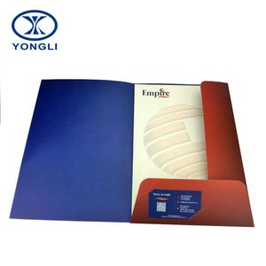 A4 Size Customized Pocket Paper Cardboard File Folder for office supplies