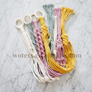PH179 colorful Handmade Indoor Macrame hangers Pot holders Cotton Plant Hanger For Home Garden Decoration