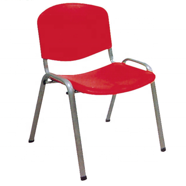 Cheap price stacking function red color plastic stackable chair