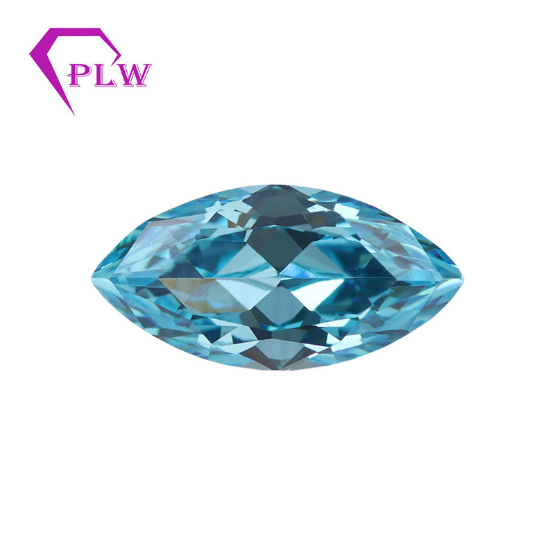 Provence Gems Loose Stones Synthetic Lab Created Marquise Cut Cubic Zirconia Geometric Shape Gemstone