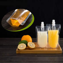 Stand Up Packaging Drink Bag Pouch/Transparent Juice Drink Spout Pouch Bag/Milk Storage Liquid Bag