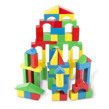 100pcs Innovative Kids Educational Diy Toys Children Play Wooden Cube Blocks Set Build Wood Toy