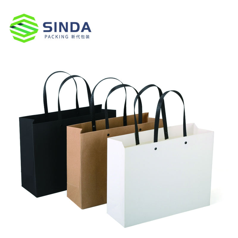 Gift Industrial Use and Screen Printing Surface Handling paper kraft bag