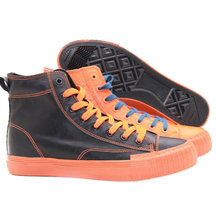 HUANQIU men canvas shoes for men top brands high top canvas shoes OEM
