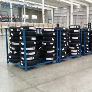OEM warehouse storage stacking metal steel truck tire tyre stillage racking for tyre