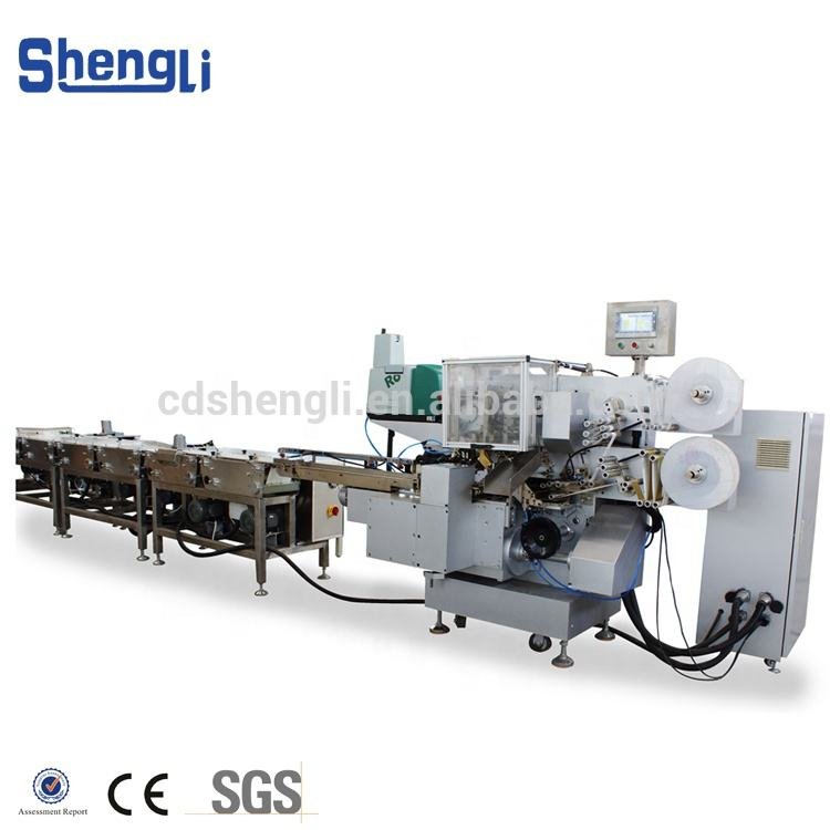 Automatic Horizontal Chocolate Packaging Machine Chocolate Biscuit Envelop Fold Wrapping Machine
