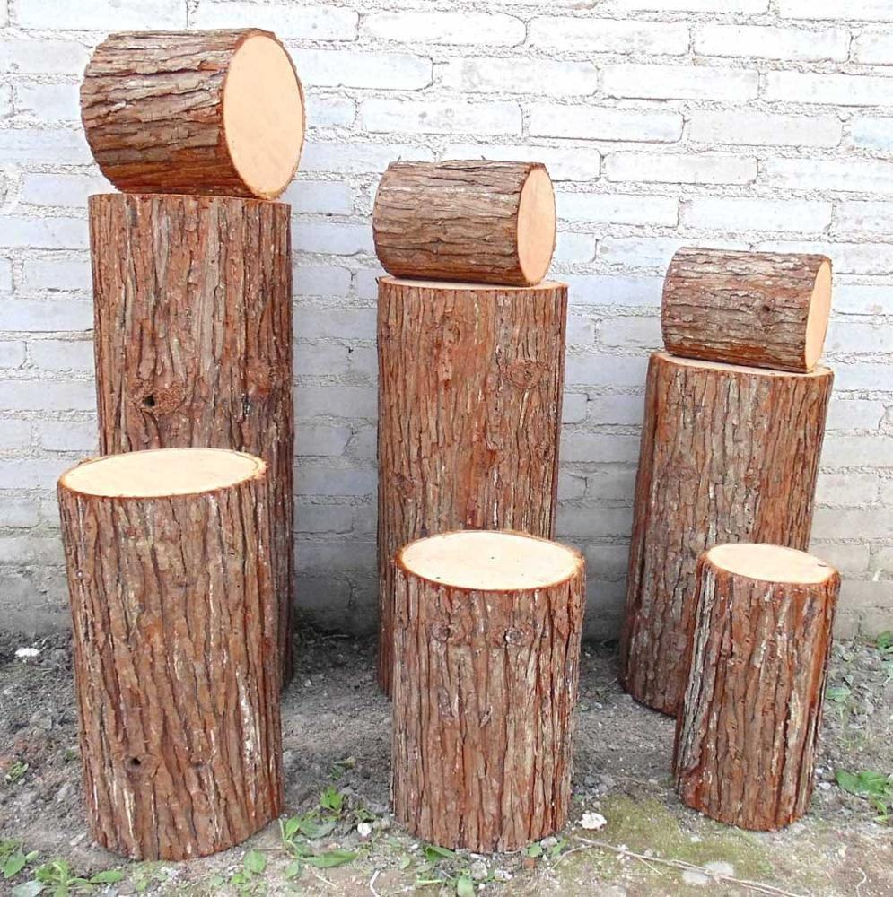Real Touch Artificial Tree Bark Artificial Tree Stumps Artificial Round Stock Trunks