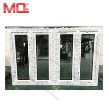 China factory tempered double glass window and doors pvc upvc casement windows in guangzhou