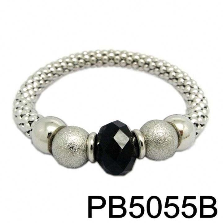 Perla Negra De Lava Natural Piedra Hematita Dorado Pantera pulsera con dijes Joyería Hombres