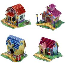 Promotion Gifts High Quality Cottage 3d Puzzle House For Kids