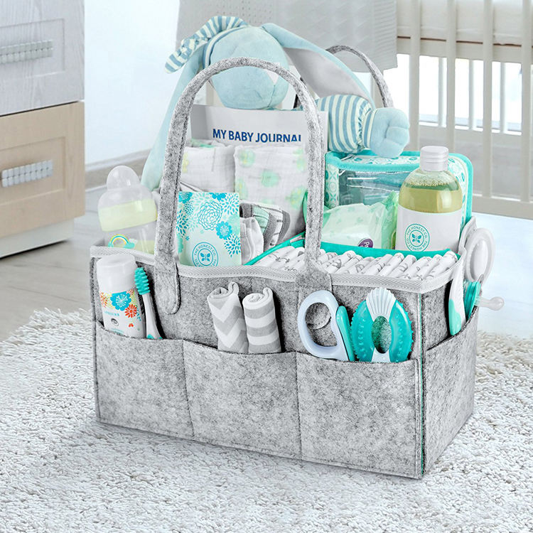 Cute Gift for Kids Nursery diaper caddy Storage Bin / Portable Large diaper caddy tote / Baby Diaper Caddy Organizer