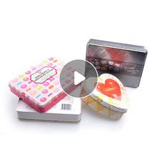 Food Grade Sweet Round Tin Cookies Box Packaging Tin Cookies Can Wholesale