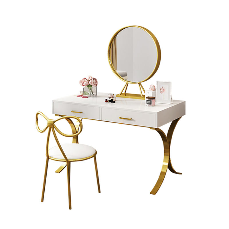 Luxury Dressing MDF Modern Corner Cheap Bedroom Table Wood Dresser with Mirror