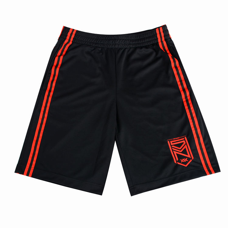 high quality black summer men sport shorts/ custom red embroidered logo shorts