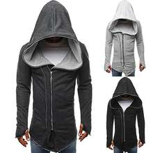 Men Hip Hop Hooded Sweatshirts Long Sleeve Mantle Hoodies Jacket Cloak Male Coat Outwear 3 Colors M-2XL