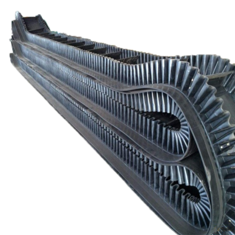 큰 angle rib conveyor belt skirt 고무 (baffle) conveyor belt