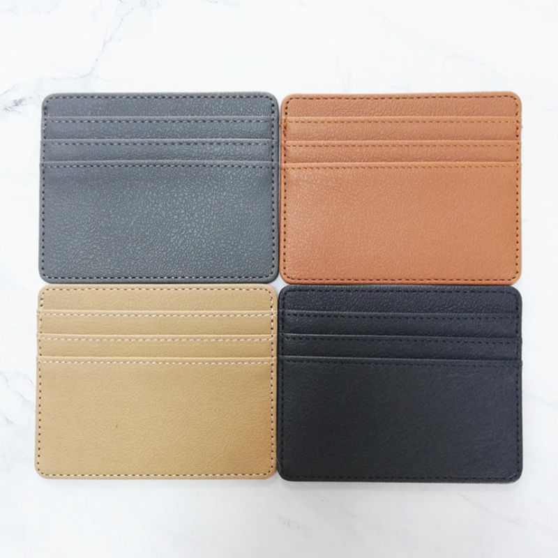 SGS and BSCI certificate OEM/ODM Customized Factory Wholesale PU Leather Card Holder For Men And Women