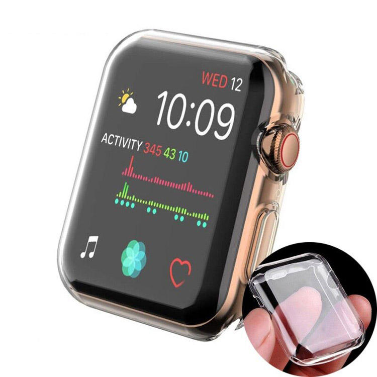 Horloge Cover Voor Apple Horloge Case 38 Mm 42 Mm 40 Mm 44 Mm Soft Tpu Ultra-Dunne Transparante screen Protector Case