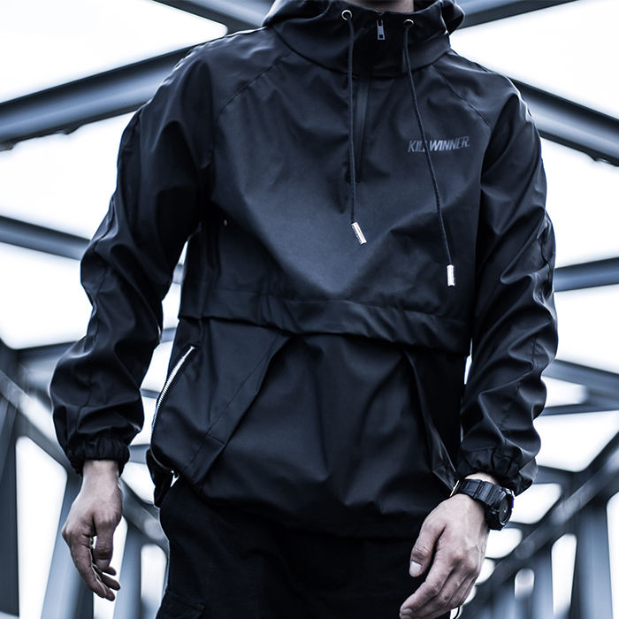 Killwinner Multifunction Streetwear Brand Black Couple Tops Outdoor Pu Leather Waterproof Sports Fashion Bomber Jacket Men