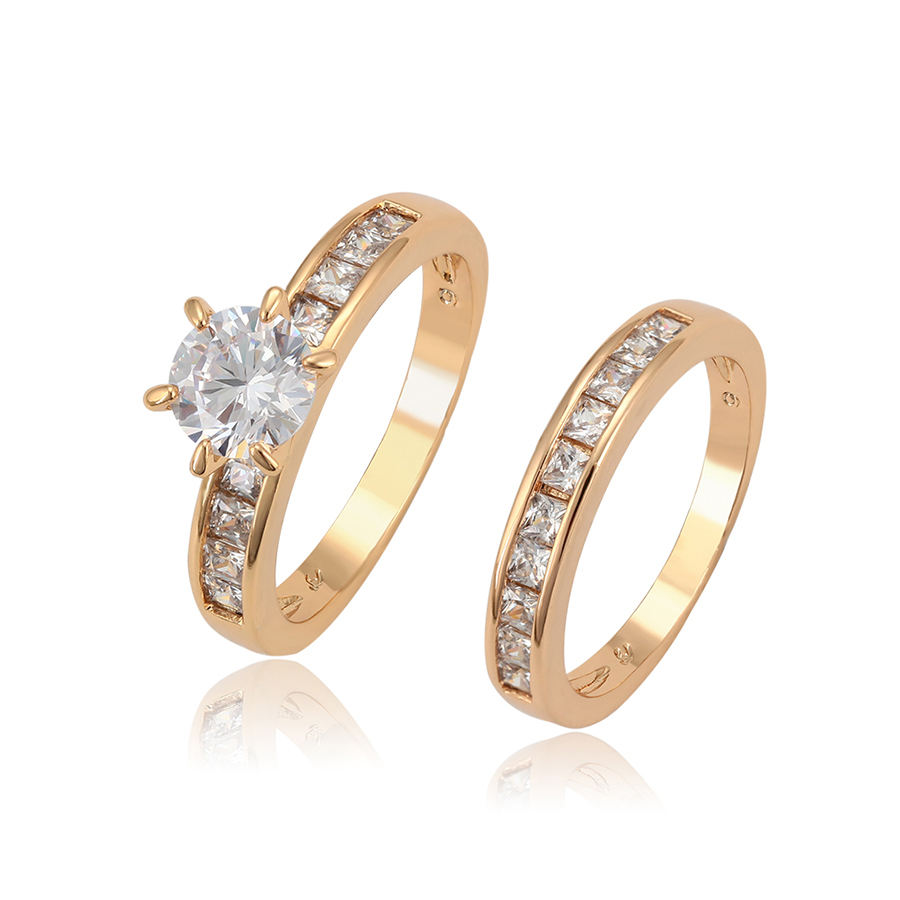 12888 xuping engagement ring, fashion jewelry couple wedding rings, gold 18k women rings