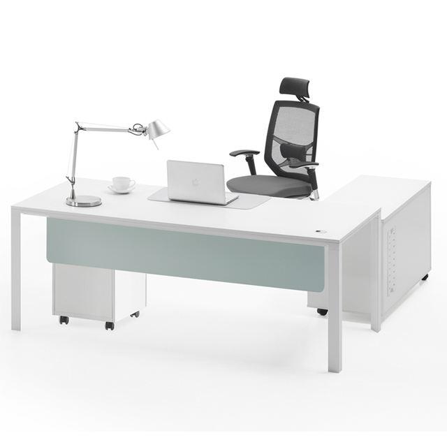 Moderno gambe in <span class=keywords><strong>metallo</strong></span> table desk altezza ergonomica ufficio esecutivo mobili del sistema con modesty panel (OL-CD0118)