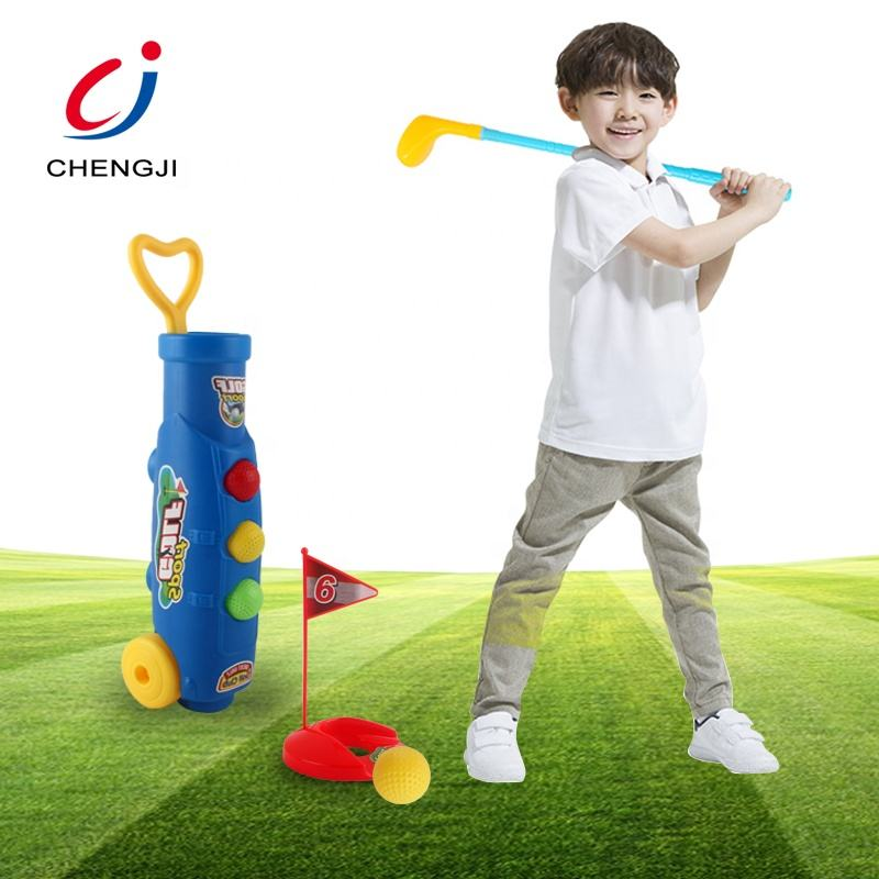 Vendita calda outdoor sports gaming club bambini di plastica set da golf giocattolo