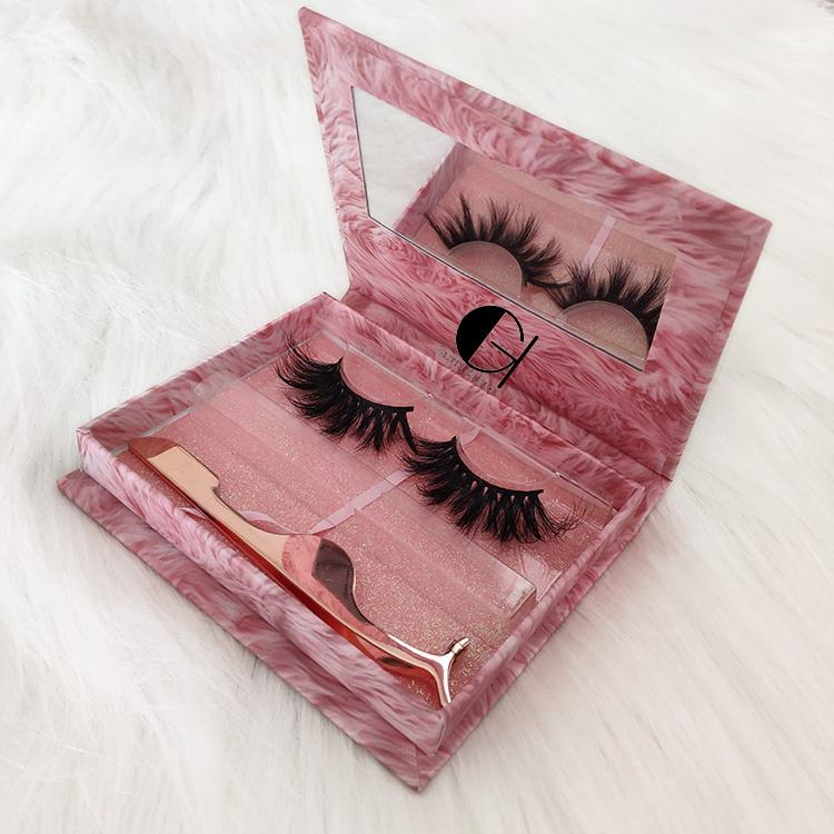 Real Mink Lashes Vendor Private Label 3D Mink Eyelashes 100% Mink Fur Own Brand Eyelashes With Custom Eyelash Packaging Box