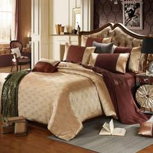 Wholesale Jacquard Luxury Gold 4Pcs Bedding Set