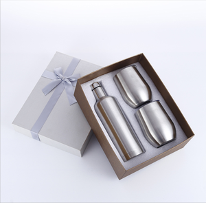 Gift Sets 550ml Luxury Stainless Steel Vacuum Insulated Red Wine Set Tumbler Set with Gift Box for wine/champgne