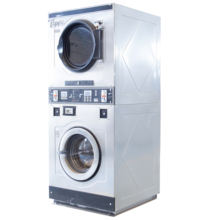 coin or card operated laundry washing machine and dryer