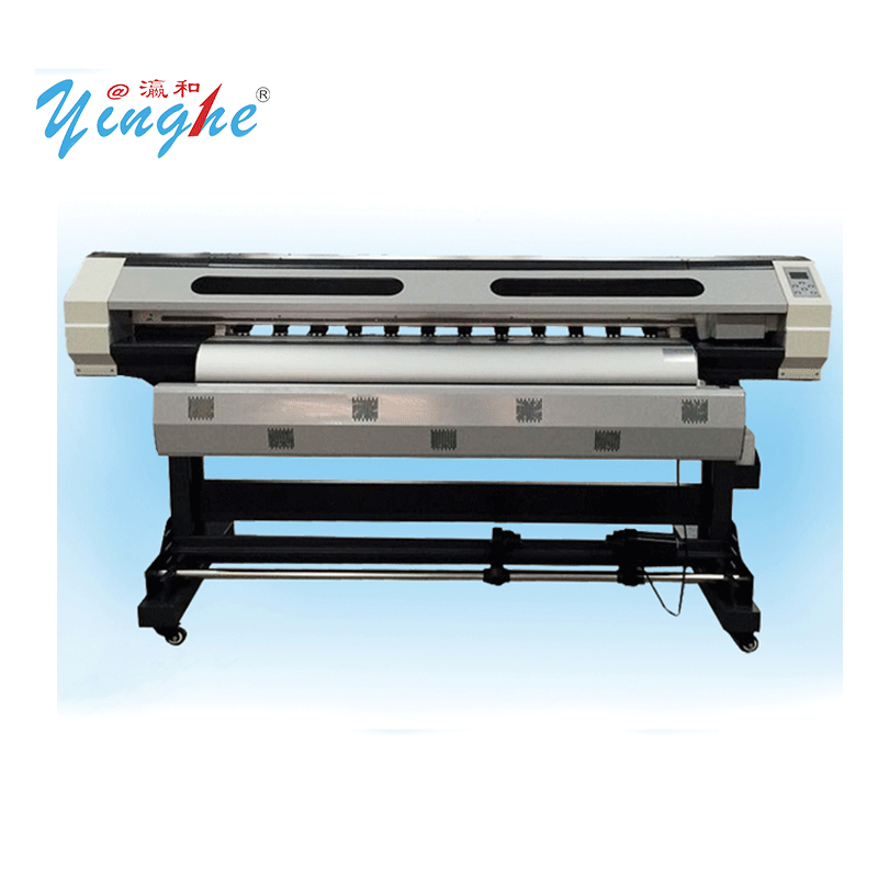 Yinghe 1800G Eco solvent printer hydraulic printer with XP600