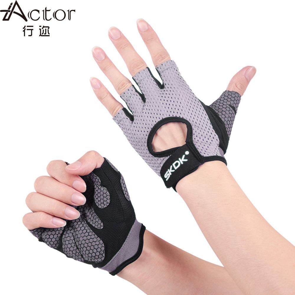 Actor anti Slip half-finger gold gym gloves women or men