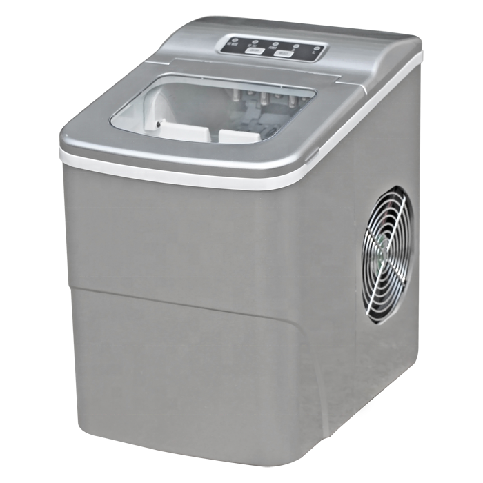 HZB-12B Silver portable mini bar ice makers with LED display
