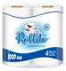 Recycled pulp 4 Rolls Pack Toilet Paper Roll
