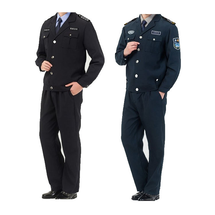 wholesale spring and autumn security clothing, bespoke design duty security guard uniform
