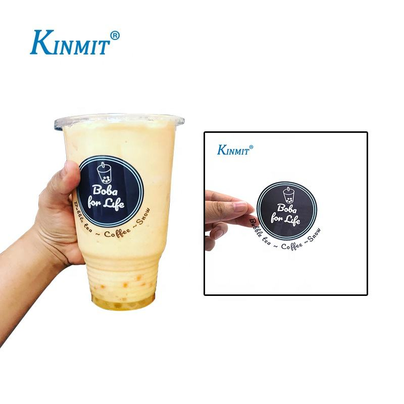 Custom Logo Printed Waterproof Plastic Stickers For Plastic Cups