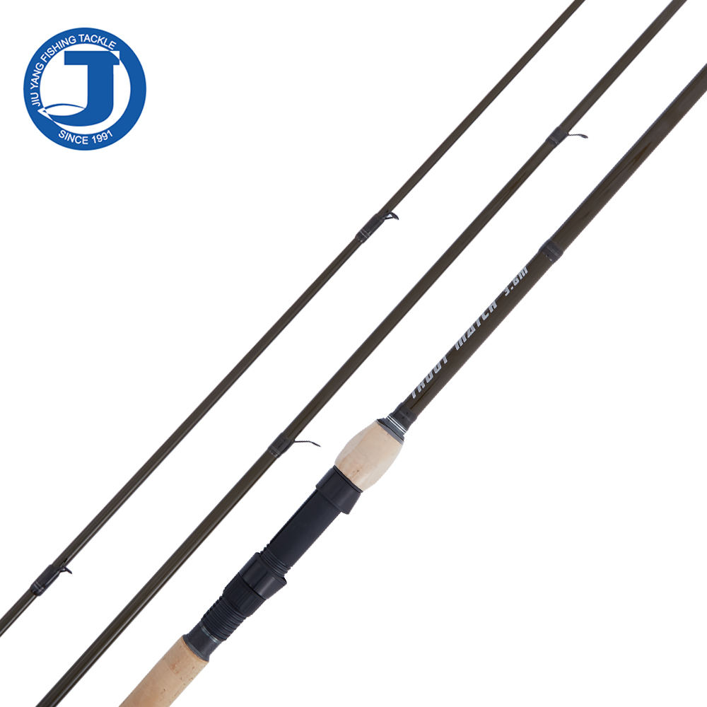 OEM High Quality 3.6m Carbon Spinning Trout Match Rod 3 Sections Trout Fishing with K Series Rings