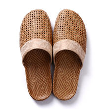 Wholesale Linen Anti-Slip Flax Indoor/Outdoor Slippers Summer Soft Scandals with Thick Outsoles for Men and Women