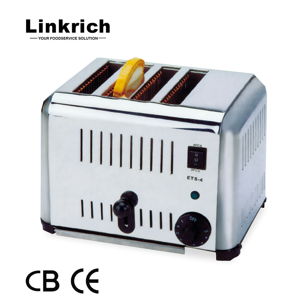 ETS-4 4 Pieces Bread Toaster For CE Industrial Bread Toaster Electric