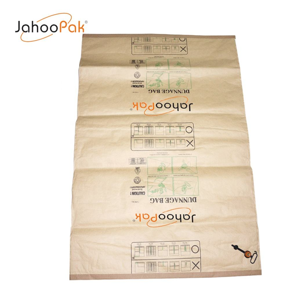 Kraft Paper Materials Avoid Shipping Cargo Damage Customized Size Air Dunnage Bag