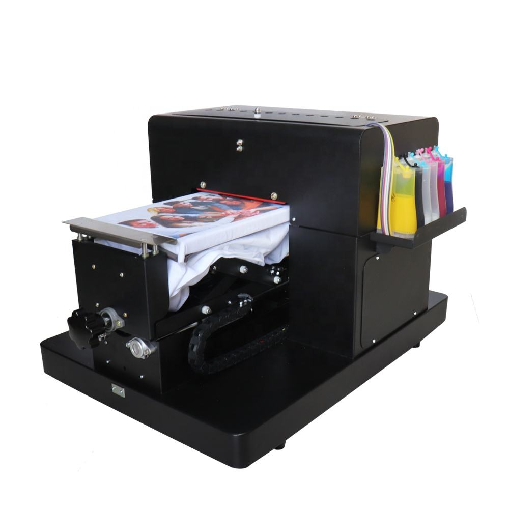 A4 flatbed t-shirt ecosolvent machine for epson R330 printer printing T-shirt machine