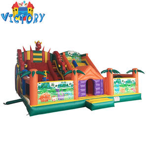 Amazing ไดโนเสาร์ inflatable bouncy castle, air bouncer inflatable trampoline inflatable jurassic ผจญภัยสวนสนุก